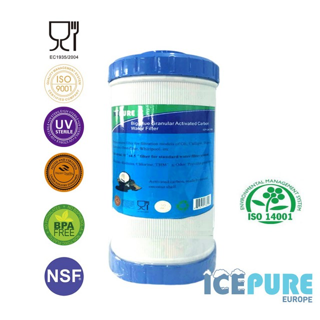 10inch Big Blue GAC Koolstof Waterfilter van Icepure ICP-GAC10BB